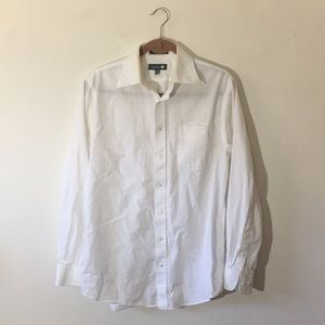 Nordstrom men's button down, white.